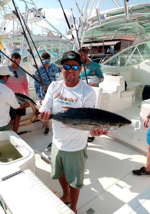Yellowfin tuna offshore is at the 25-30 mile mark in the Pacific